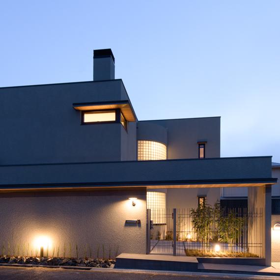 外観|桜が丘の家|岡山の設計事務所|アークス建築デザイン事務所