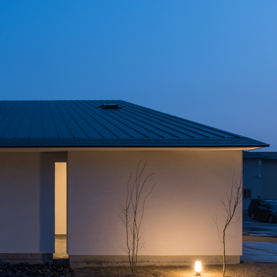 外観|桜並木の家|岡山の設計事務所|アークス建築デザイン事務所